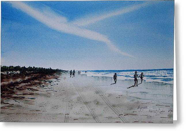 Florida Beach Day Greeting Card