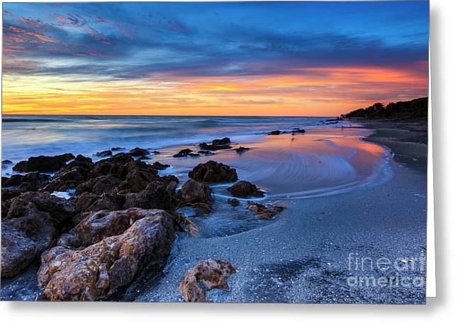Florida Beach Sunset 3 Greeting Card