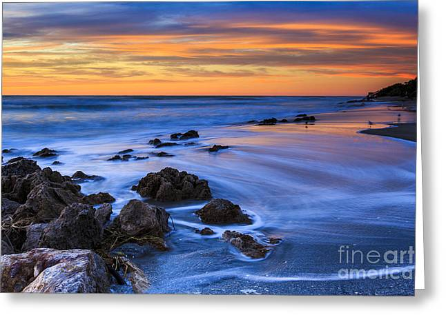 Florida Beach Sunset Greeting Card