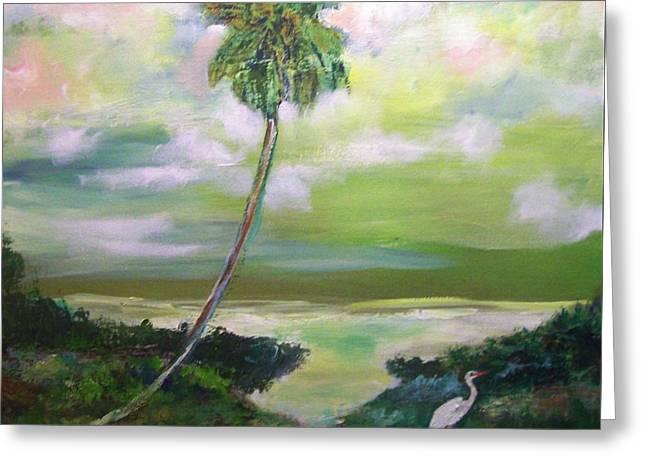 Florida Coastal Marsh Greeting Card
