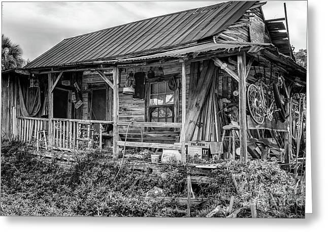 Florida Cracker Style Home, Cedar Key, Florida Greeting Card by Dawna Moore Photography