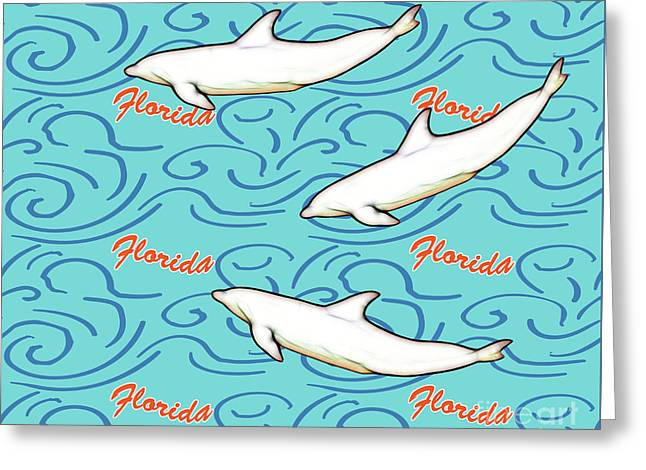 Florida Dolphin Print Greeting Card