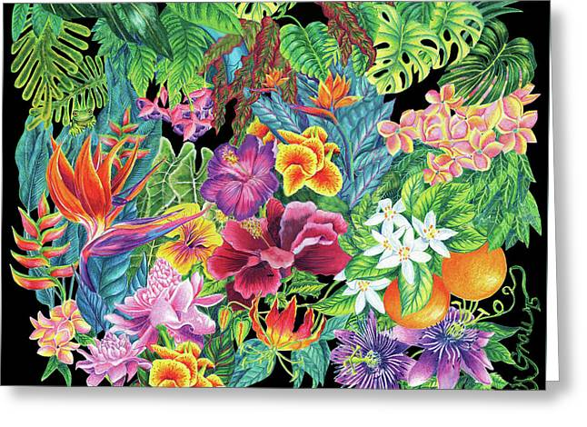 Florida Garden Greeting Card