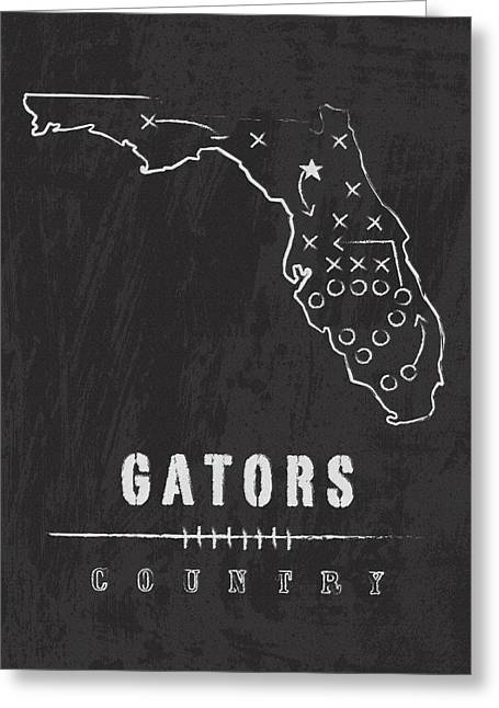 Florida Gators / Ncaa College Football Art / Gainesville Greeting Card
