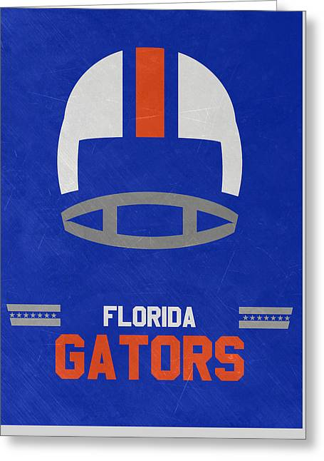 Florida Gators Vintage Football Art Greeting Card by Joe Hamilton