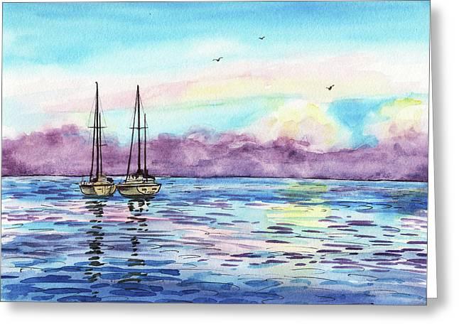 Greeting Card featuring the painting Florida Keys Islamorada Shore by Irina Sztukowski