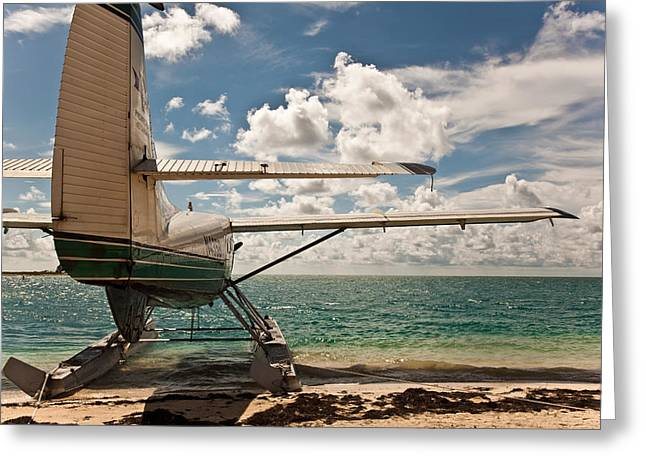 Dry Tortugas National Park Greeting Cards - Florida Keys Seaplane Greeting Card by Patrick  Flynn