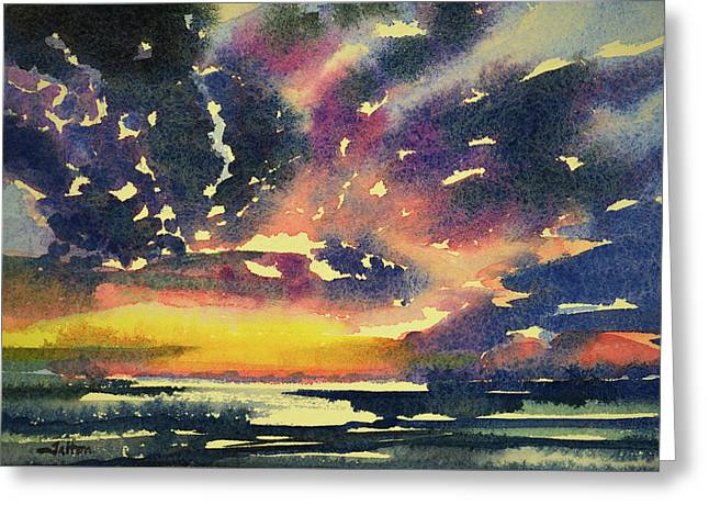 Florida Landscape Watercolor 7-3-2017 Greeting Card