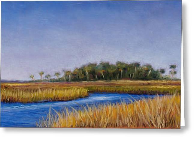 Florida Marsh Greeting Cards - Florida Marsh in June Greeting Card by Susan Jenkins
