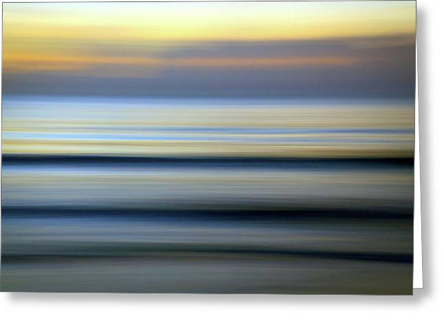 Florida Ocean Wave Abstract Greeting Card