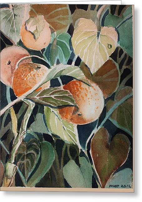Florida Oranges Greeting Card by Mindy Newman