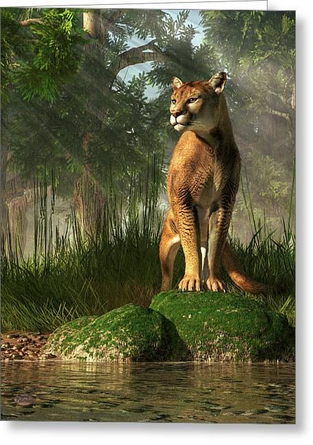 Florida Panther Greeting Card by Daniel Eskridge