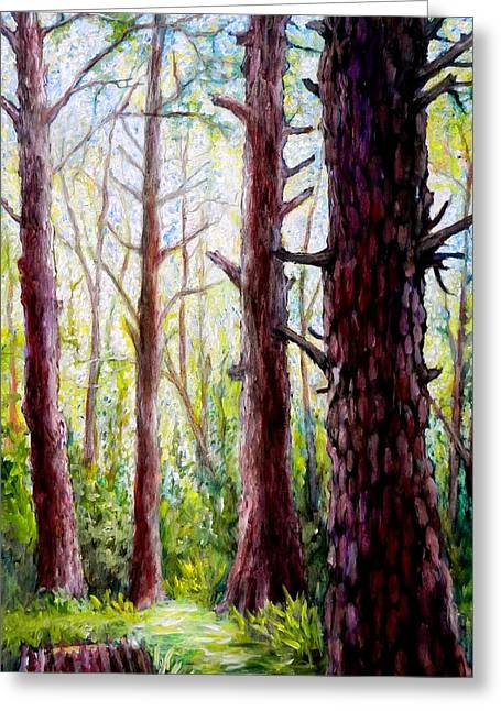 Florida Pine Forest Greeting Card by Sebastian Pierre