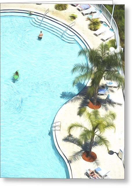 Florida Pool 33 Greeting Card by Glenn Gemmell