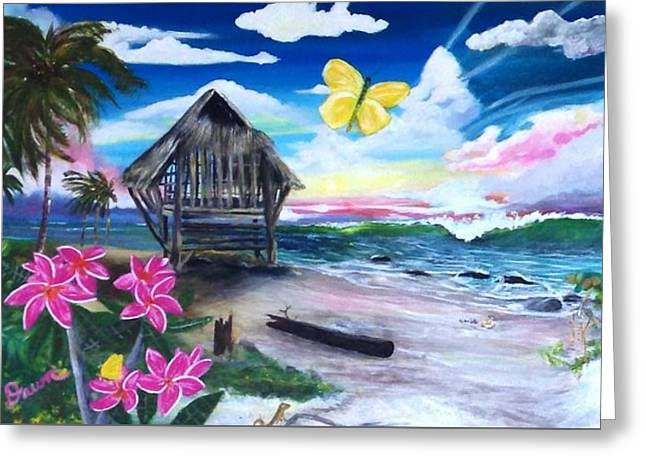Greeting Card featuring the painting Florida Room by Dawn Harrell