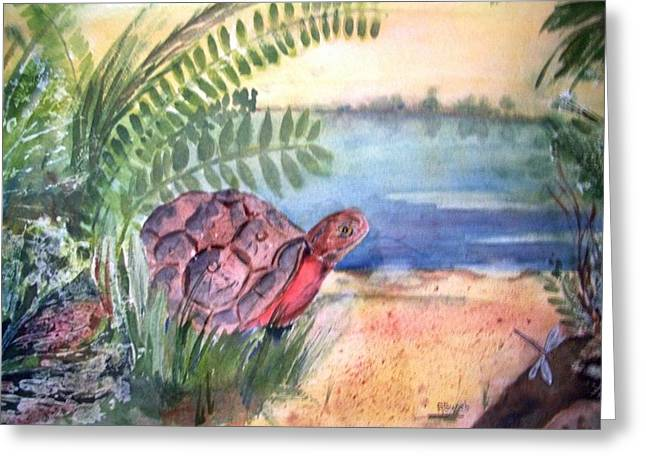 Florida Seacoast Greeting Card by Audrey Bunchkowski