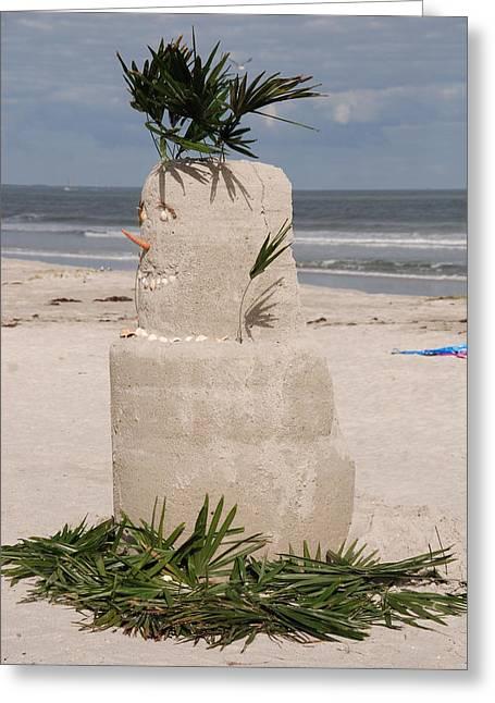 Florida Snow Man Greeting Card