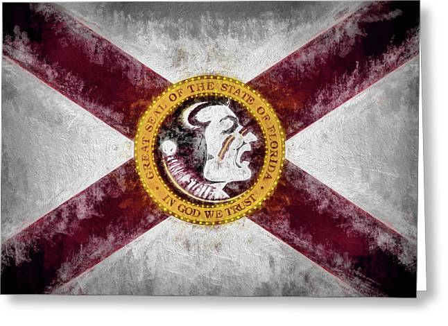 Florida State Flag Greeting Card by JC Findley