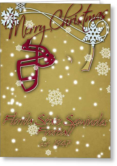 Florida State Seminoles Christmas Card 2 Greeting Card by Joe Hamilton