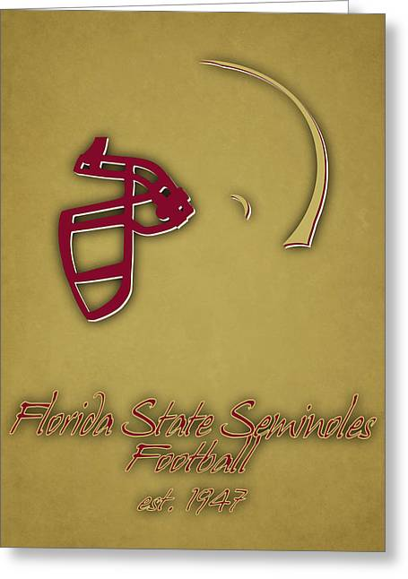Florida State Seminoles Helmet 2 Greeting Card by Joe Hamilton