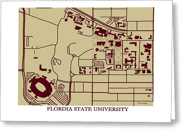 Florida State  University Campus  Greeting Card by Spencer Hall
