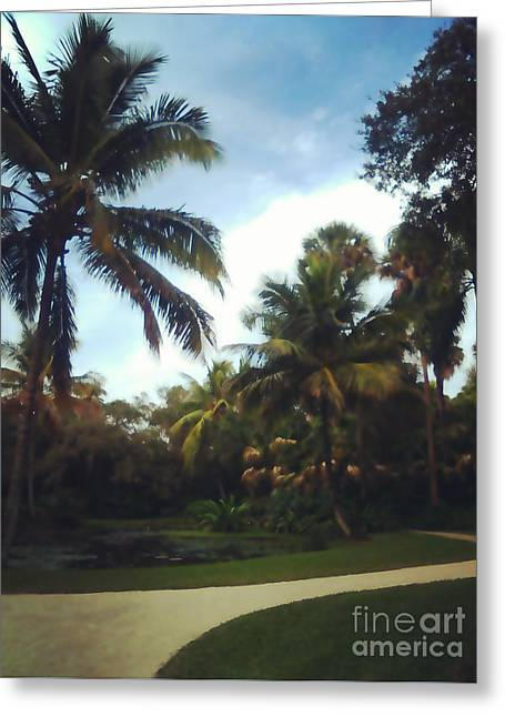 Florida Stroll Greeting Card by Liesl Marelli
