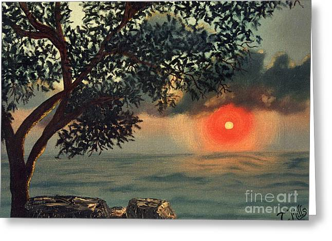 Greeting Card featuring the painting Florida Sunrise by Terri Mills