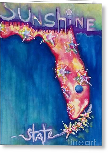 Florida The Sunshine State Greeting Card by Chrisann Ellis