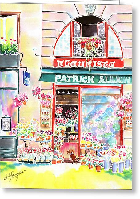 Florist In Ile St.louis Greeting Card