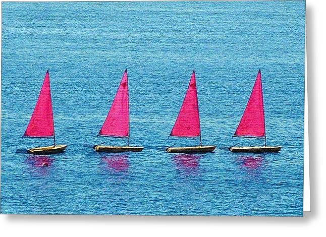 Flotilla Greeting Card by John Bradburn