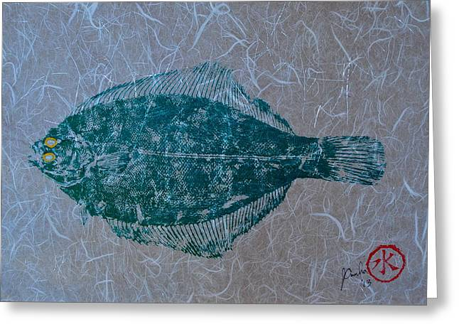 Flounder - Winter Flounder - Black Back Greeting Card