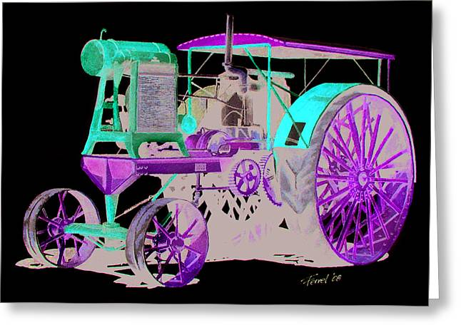 Flour City Gas Tractor Greeting Card