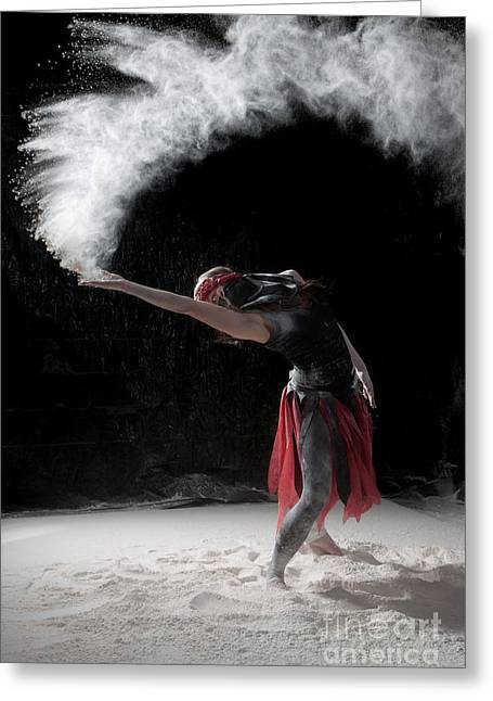 Flour Dancing Series Greeting Card