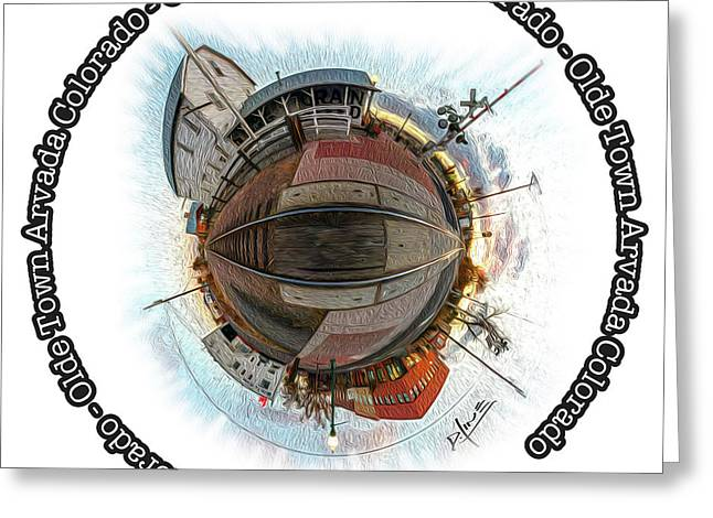 Flour Mill 360 With Type Greeting Card