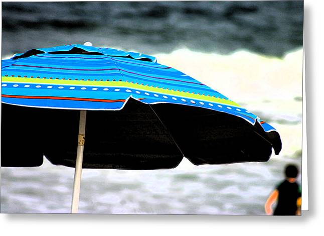 Flourescent Umbrella  Greeting Card by Kimberly Klein