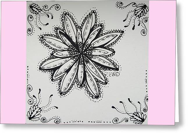 Greeting Card featuring the drawing Flow by Carole Brecht