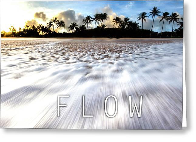Flow. Greeting Card