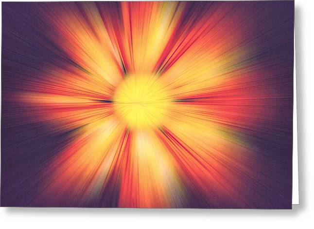 Flower Abstract Square Greeting Card by Terry DeLuco