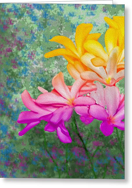 God Made Art In Flowers Greeting Card