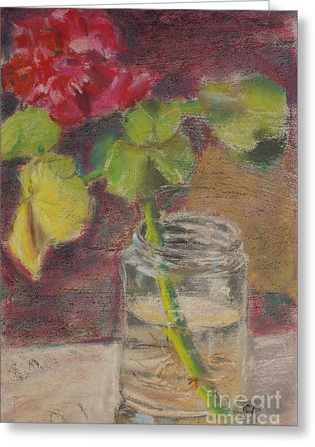 Flower And Canning Jar Still Life Caffrey Fielding Greeting Card by Edward Fielding