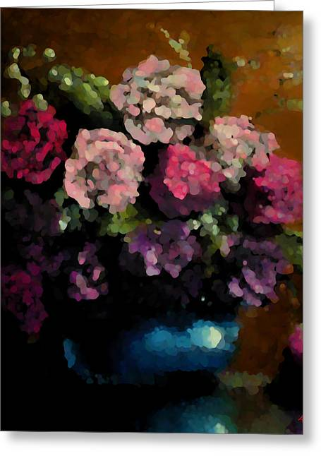 Flower Arrangement Greeting Card by Ahmed Darwish