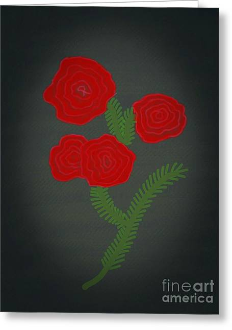 Flower Art Image Greeting Card