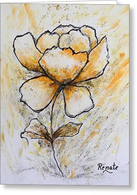 Flower-art Greeting Card