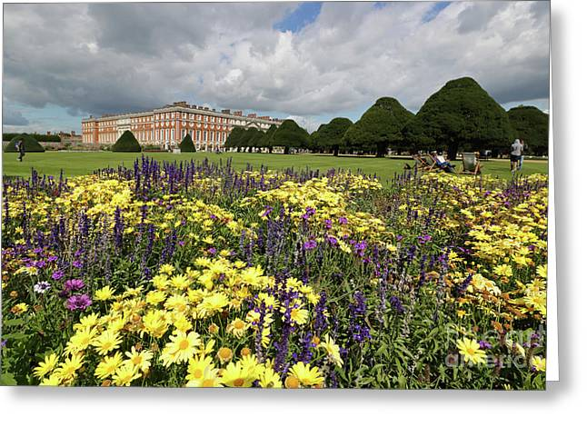 Flower Bed Hampton Court Palace Greeting Card