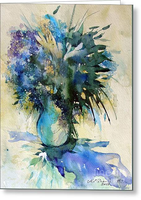 Flower Bouqet Greeting Card