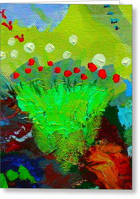 Greeting Card featuring the painting Flower Buds Detail From The Fairy Queen by Angela Annas