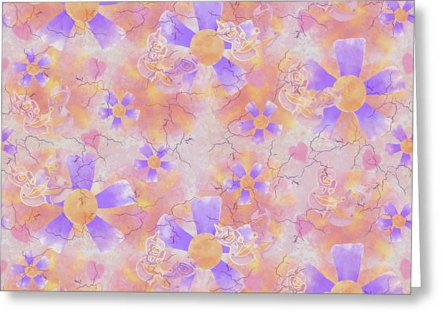 Flower Clown Pattern Greeting Card