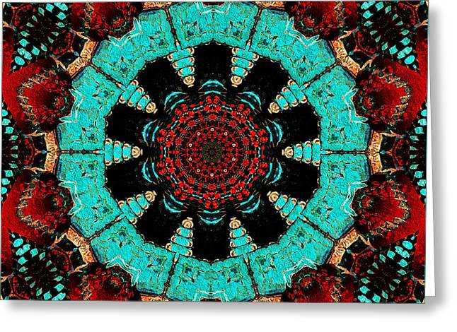 Flower Concho Greeting Card by Natalie Holland