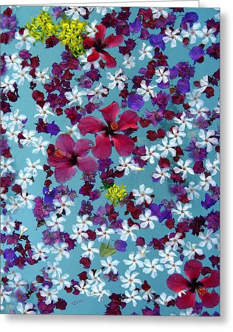 Flower Fantasy Guatemala Greeting Card by Kurt Van Wagner