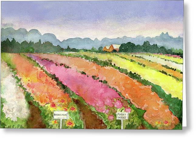 Flower Farm Greeting Card by Blenda Studio